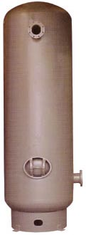 Vertical air receiver 120 gal 200 psi w/base ring